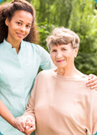 caregiver and elderly patient