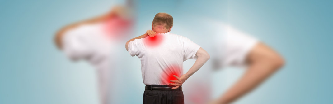 patient suffering back pain